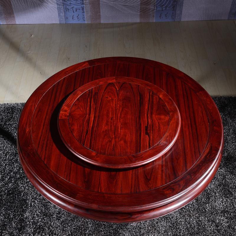 粤晖园在哪里_红木家具巴里黄檀餐厅圆形餐桌椅组合红酸枝圆桌实木带转盘 ...